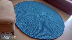 שטיח סרוג/שטיחים סרוגים/שטיח סרוג עגול/שטיח לחדר ילדים | הסורגת עפרה בכר…