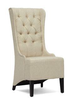 Vincent Linen Modern Accent Chair - Beige