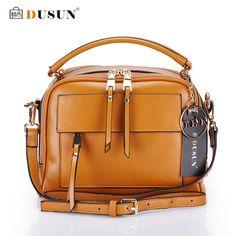 da68309679a54 DUSUN Brand Women Messenger Bags Genuine Leather Bags Women Real Leather  Casual Handbags Crossbody bags Vintage Zipper Women Bag-in Top-Handle Bags  from ...