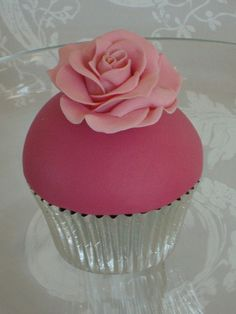 High dome buttercream filling and fondant icing.