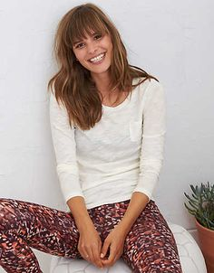 Aerie Real Soft® Long Sleeve Tee, Soft Muslin | Aerie for American Eagle