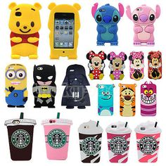 3D Cartoon Super Hero Soft Silicone Case Back Cover Skin For iPhone iPod Touch