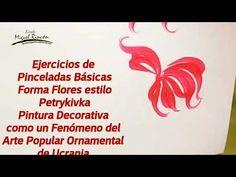 Pinceladas (One Stroke) practicas básicas con Miguel Rincón. Arte Popular, Home Decor, Brush Strokes, Studio, Manualidades, Decoration Home, Room Decor, Interior Decorating