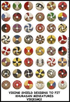 Gothic 4er Pack Viking Round Shield Symbol Brosche Celtic Norse Vintage Schmuck