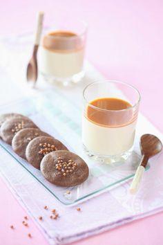 Verdade de sabor: Панна котта с карамелью и ореховым тюилем / Panna cotta com caramelo e tuile de nozes