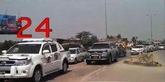 #ExCM #Sindh ostentatious entourage includes above 40 vehicles