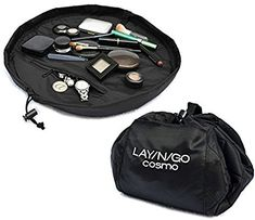 Layngo COSMO Cosmetic Bag Lay-n-Go Cosmo Cosmetics Bag. An Innovative Organizational Solution for Life, Play & Travel! Lay-n-Go is perfect for home, but durable enough to hold up wherever your travels take you. The Lay-n-Go Cosmo is a diamet Makeup Pouch, Makeup Case, Love Makeup, Black Makeup, Makeup Tips, Diy Makeup, Makeup Ideas, Beauty Makeup, Normal Makeup