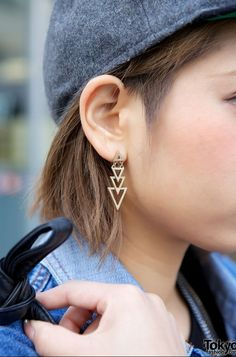 Geometric earring  -  Japanese fashion