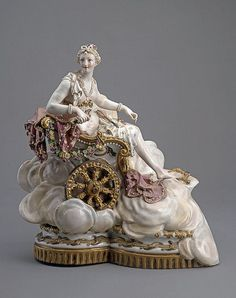 1774 German (Meissen) Porcelain Figurine of Venus Riding a Chariot at the State Hermitage Museum, St. Petersburg - Found via OMG that Artifact!