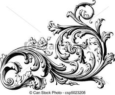 Victorian Filigree Clip Art | Art Graph Design, Ornimental Tattoo, Floral Scrolls, Body Art, Scrolls ...