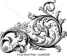Victorian Filigree Clip Art   Art Graph Design, Ornimental Tattoo, Floral Scrolls, Body Art, Scrolls ...