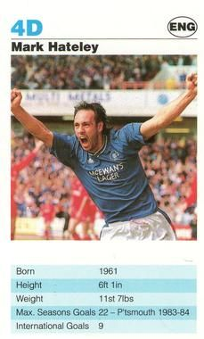 1992 Super Top Trumps Today's Strikers #4D Mark Hateley Front