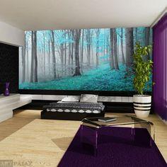 Fototapeta turkusowy las