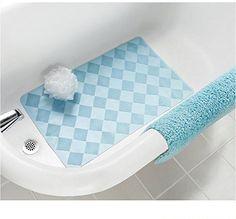 Mainstays Rubber Bath Mat Mineral Blue for sale online