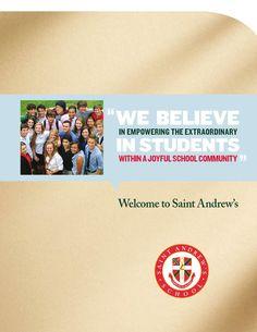 Saint Andrew's School viewbook by Turnaround Marketing Communications.