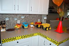 Construction Themed 2nd Birthday Party