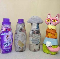 1 million+ Stunning Free Images to Use Anywhere Paper Mache Diy, Paper Mache Projects, Making Paper Mache, Paper Mache Sculpture, Paper Clay, Paper Art, Paper Crafts, Plastic Bottle Art, Recycle Plastic Bottles