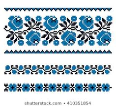 Imágenes similares, fotos y vectores de stock sobre Embroidered pattern on transparent background; 404908477 | Shutterstock Cross Stitch Borders, Cross Stitch Designs, Baby Embroidery, Embroidery Patterns, Crochet Stitches Patterns, Stitch Patterns, Graph Design, Handmade Bags, Bead Weaving