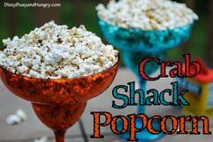Crab Shack Popcorn - Tangy, buttery popcorn snack flavored with Old Bay Spice and reminiscent of a mom-and-pop crab shack dinner platter! (Lemon Chex Mix)
