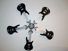 Colorful electric guitar shaped replacement ceiling fan blades my black bass guitar shaped replacement ceiling fan blades aloadofball Choice Image