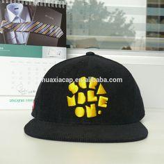 Embroidery Corduroy Snapback Cap,Custom Corduroy Snapback Cap