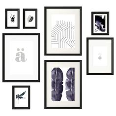 IKEA Frame with poster, set of 8 Black: decoration / frames-pictures The included collage template and coordinated motifs make it easy to create your own personal wall collage. Collage Mural, Collage Frames, Paper Frames, Frames On Wall, Hanging Wall Art, Framed Wall Art, Wall Hangings, Marco Ikea, Collage Template