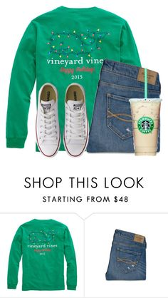 """13 days until Christmas "" by flroasburn ❤ liked on Polyvore featuring Abercrombie & Fitch and Converse"