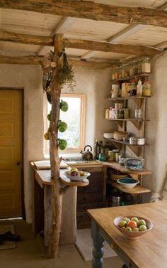 Wooden creative kitchen