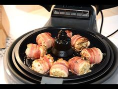 Tefal Actifry 2 in 1 Frying Chicken Stuffing and Bacon Rolls Bacon Recipes For Dinner, Gourmet Recipes, Vegetarian Recipes, Healthy Recipes, Tefal Actifry, Bacon Wrapped Chicken Bites, Bacon Roll, Bacon On The Grill, Chicken Stuffing