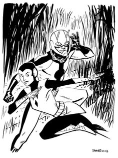 Ant-Man and Wasp by Chris Samnee #avengers   #marvel   #comicbooks