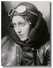 Amy Johnson CBE, (1 July 1903 – 5 January 1941) was a pioneering aviatrix who broke several world records in the field of aviation. She was apparently accidentally shot down by friendly fire during WWII while  on a mission for the Air Transport Auxiliary.