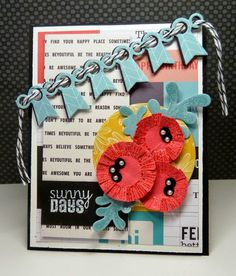 Handmade card by Vickie Zimmer using the Sunny Days set from Verve.  #vervestamps