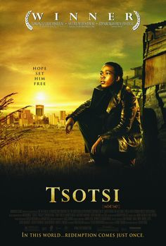 An amoral teenager develops an unexpected paternal side in this powerful drama from South Africa. Tsotsi (Presley Chweneyagae) is the street name used by a young Johannesburg delinquent who has taken to a life of crime in order to support Films Photos Great Films, Good Movies, Saddest Movies, Image Internet, Toronto Film Festival, Life Of Crime, I Love Cinema, Indie Films, Foreign Movies
