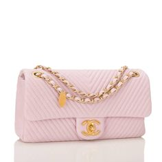 Chanel Pink Chevron