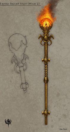 2007 Concept arts WHO. Part Warhammer FB Anime Weapons, Fantasy Weapons, Fantasy Rpg, Medieval Fantasy, Dark Fantasy, Weapon Concept Art, Armor Concept, Mago Anime, Staff Magic
