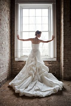 Bride in Window