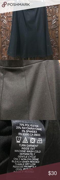 Nic & Zoe black skirt NWT Nic & Zoe black skirt, flattering swing, size S, NWT. NIC + ZOE Skirts Midi