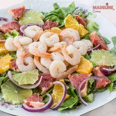 Salata de creveti si citrice / Shrimp citrus salad