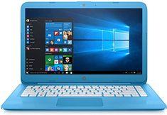 HP Stream 14in Laptop Intel Celeron N3060 4GB RAM 32GB Solid State Drive with Windows 10 (14-ax010ca)  Aqua Blue (Renewed)