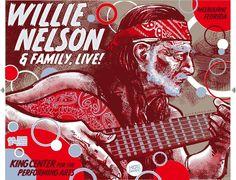 Willie Nelson Gig Poster King Center for the Perfo by daveberns.deviantart.com on @deviantART