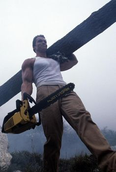 A gallery of Commando publicity stills and other photos. Featuring Arnold Schwarzenegger, Alyssa Milano, Vernon Wells, Rae Dawn Chong and others. Film D'action, Film Movie, Movies, Arnold Schwarzenegger Bodybuilding, Pose Reference Photo, Sylvester Stallone, School Pictures, Action Poses, Movie Characters