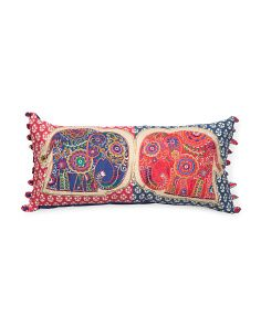 Made In India 12x26 Bohemian Elephant Pillow