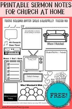 Are you struggling to keep your kids focused during church at home? These at-home sermon note-taking sheets are great for staying focused and entertained! Parenting Advice, Kids And Parenting, Kids Church, Church Ideas, Raising Godly Children, Sermon Notes, Pastors Wife, Ministry Ideas, Kids Ministry