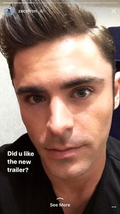 This eyes 😍😍😍 Zack Efron Zac Efron Pictures, Dibujos Anime Chibi, Troy Bolton, Hate Men, Baywatch, Nick Jonas, Malec, New Trailers, Haircuts For Men