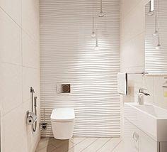 Bad / WC / Fliesen Using hydroponics to grow African Violets. Bad Inspiration, Bathroom Inspiration, Modern Bathroom Design, Bathroom Interior Design, Bathroom Wall, Small Bathroom, Small Toilet Room, Shower Remodel, Beautiful Bathrooms