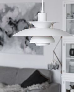 Louis Poulsen's PH 5 Contemporary pendant light in white. From the blog My Full House.