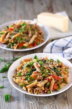 This pasta primavera recipe is perfect for spring, although you can make it any time of the year using what's in season.