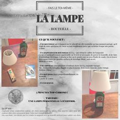 ENVIE DIY - Lampe Bouteille Diy Lampe, Assemblage, Mood, Photo Wall, Mindfulness, Frame, Bottle Lamps, Picture Frame, Photograph