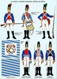 Bavarian; French Grande Armee, VII Corps, 2nd Bavarian Division, commanded by General-Leutnant Karl Philipp von Wrede. 1809