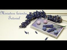 Miniature lavender Tutorial-Polymer Clay - YouTube
